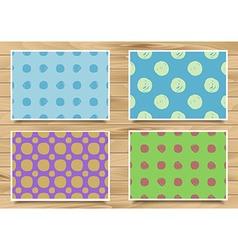Set of vintage patterns polka dot vector image