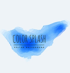 Blue color splash vector