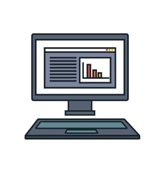 Computer desktop display isolated icon vector
