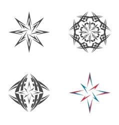 Logo star of bethlehem vector