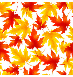 Seamless pattern with colorful leaf fall vector