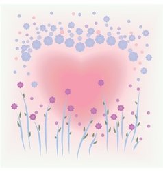 Flower card for valentine vector
