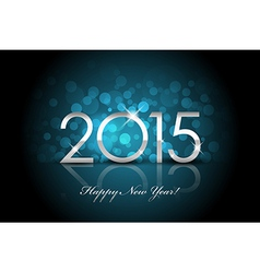 2015 - Happy New Year blue background blur vector image