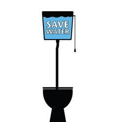 save water on a toilet vector image