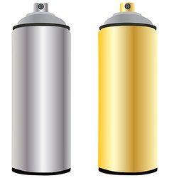 Spray bottle gold and aluminum vector