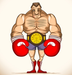 Professional boxer after fight vector image