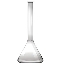 Science glass on white vector