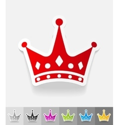 Realistic design element crown vector