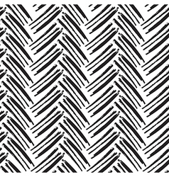Seamless brush lines pattern herringbone vector
