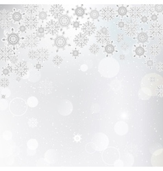 a background of snowflakes vector image
