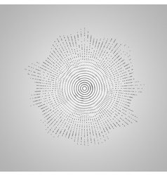 Abstract shape of particles array vector