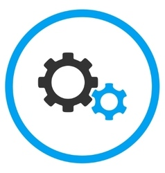 Gears rounded icon vector