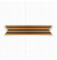 Victory day realistic saint george striped ribbon vector