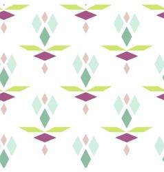Colorful geometric diamond pattern vector image