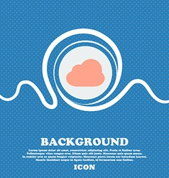 Cloud sign icon blue and white abstract background vector