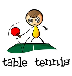 A stickman playing table tennis vector image vector image