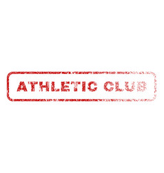athletic club rubber stamp vector image vector image