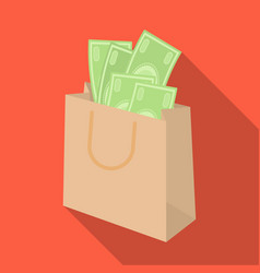 Bag with money e-commerce single icon in flat vector