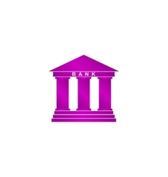 Bank icon Modern design flat style vector image vector image