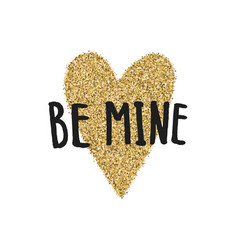 Be mine valentines day greeting card vector