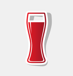 Beer glass sign new year reddish icon vector