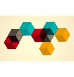 Bright transparent gradient cube background vector