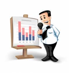 businessman charts vector image
