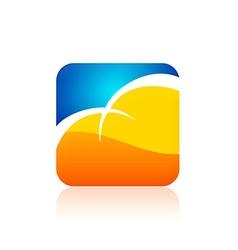 Cloud icon color logo vector
