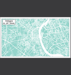 cologne germany city map in retro style outline vector image