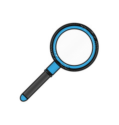 Color blurred stripe magnifying glass with lens vector