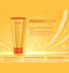 Cosmetic tube template beauty skin collection vector