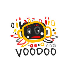 creative kid s style drawing voodoo magic logo or vector image vector image
