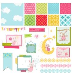 Design Elements - Baby Bunny Sweet vector image vector image