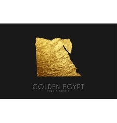 Egypt map golden egypt logo creative egypt logo vector
