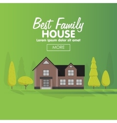 Family house building cottage vector