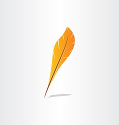 feather symbol abstract icon vector image vector image