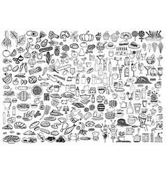 Food and drinks doodle vector image vector image