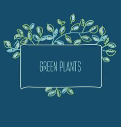 fresh spring color decorative leaves frame vector image