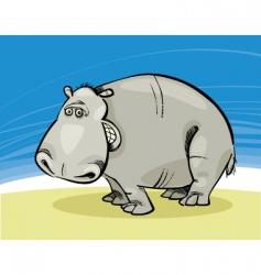 Funny hippopotamus vector