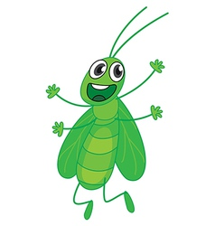 Happy grasshopper vector image vector image