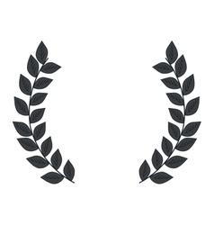 Laurel leaves frame vector