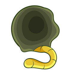 orbit with grub icon cartoon style vector image
