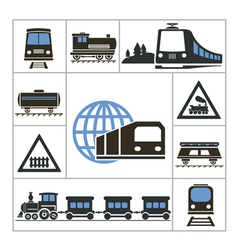 Railway vector image vector image