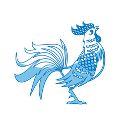 Rooster symbol the chinese calendar cock design vector