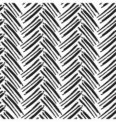 Seamless brush lines pattern herringbone vector