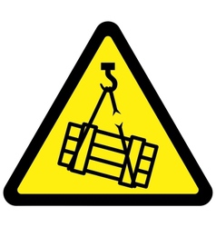 suspended load hazard sign vector image vector image