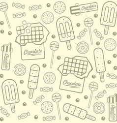 Sweet seamless background vector