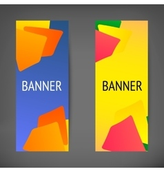 Vertical web banners vector image vector image