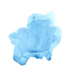 watercolor blue blot for beautiful banner vector image