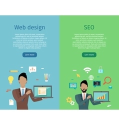 Web design seo infographic set vector